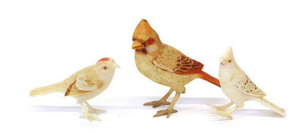 4006: Chinese Ivory Bird Figurines