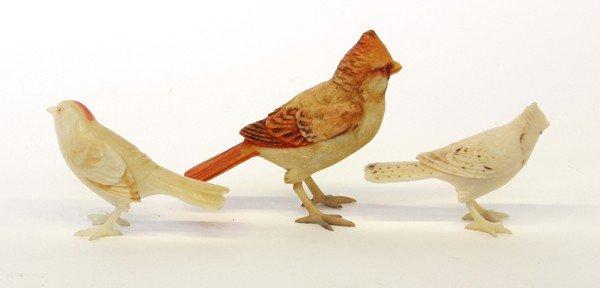 4006: Chinese Ivory Bird Figurines - 2