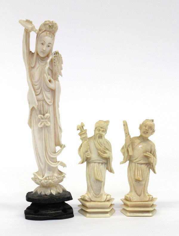4008: Group of Chinese Ivory Figures