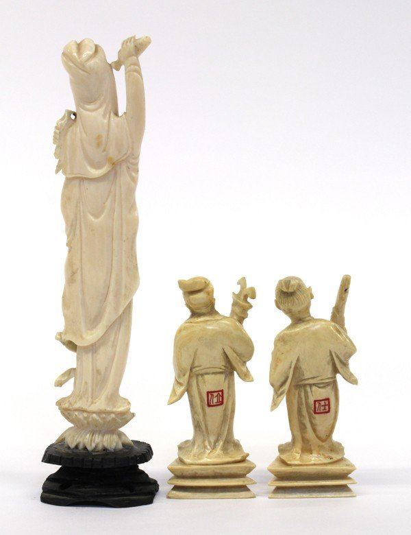 4008: Group of Chinese Ivory Figures - 2