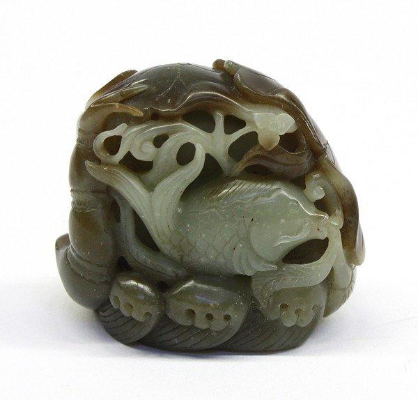4010: Chinese Jade Carving, Fish/Lotus Root