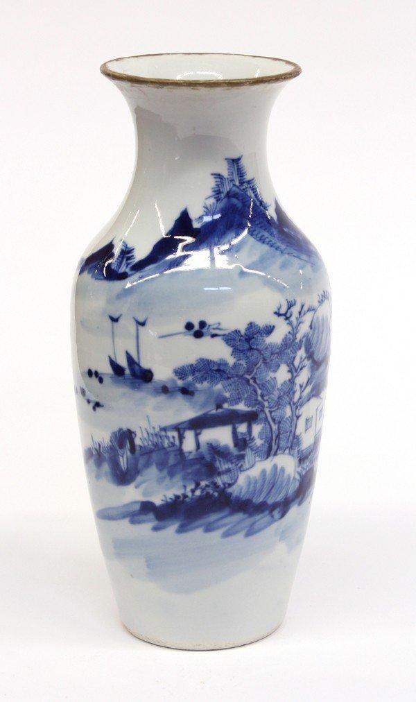 4017: Chinese Blue/White Ovoid Vase