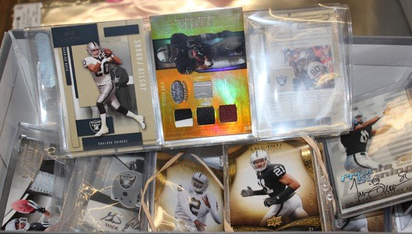 9003: Oakland Raiders slabbed sports cards signed