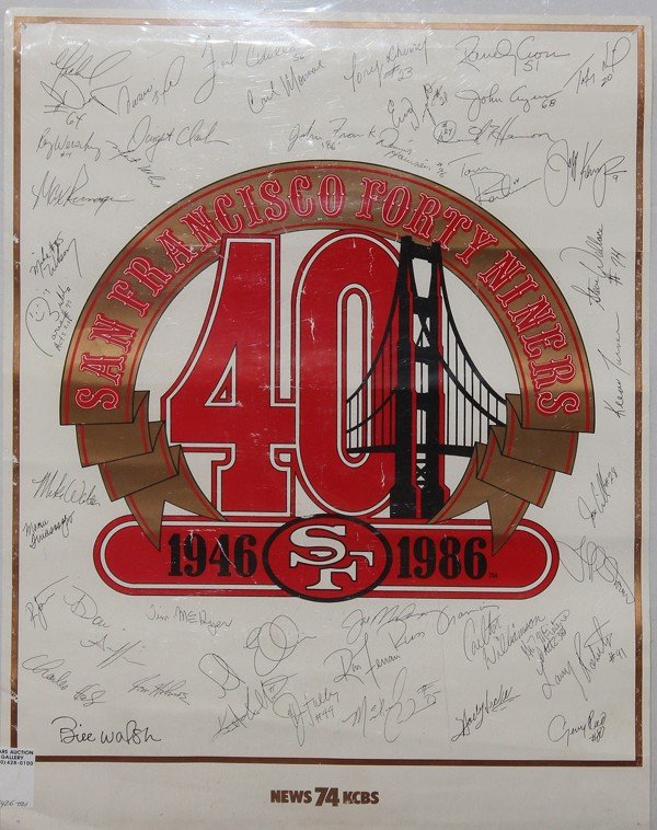 9008: San Francisco 49ers autographed poster