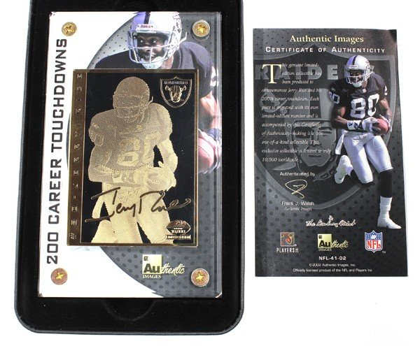 9010: Jerry Rice, Oakland Raiders, 200 touchdown cards