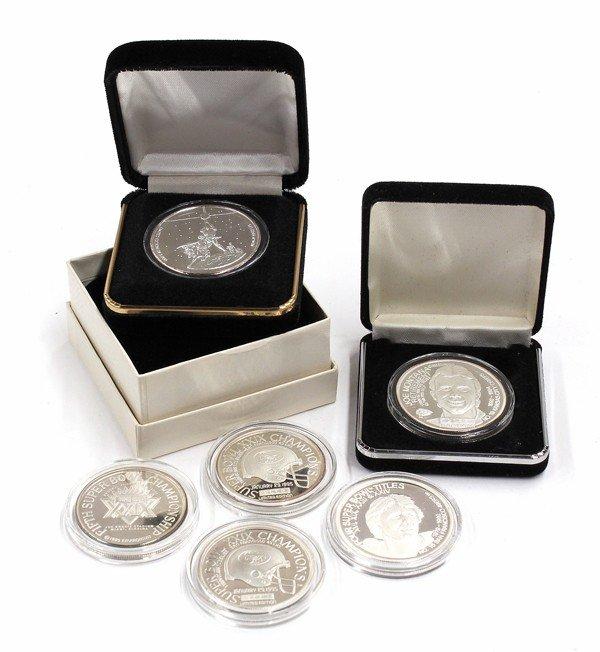 9011: Commemorative sports silver coins