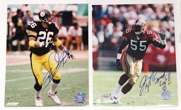 9013: Autographed football photographs