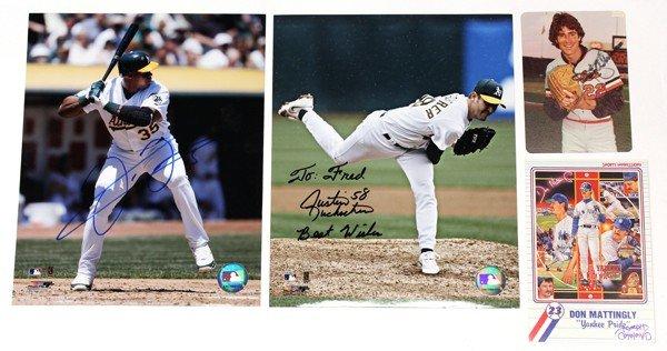 9015: Autographed baseball photographs
