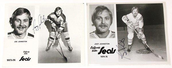 9016: Autographed Ice Hockey photographs