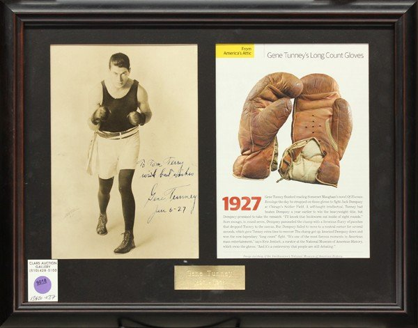 9018: Gene Tunney autographed photograph