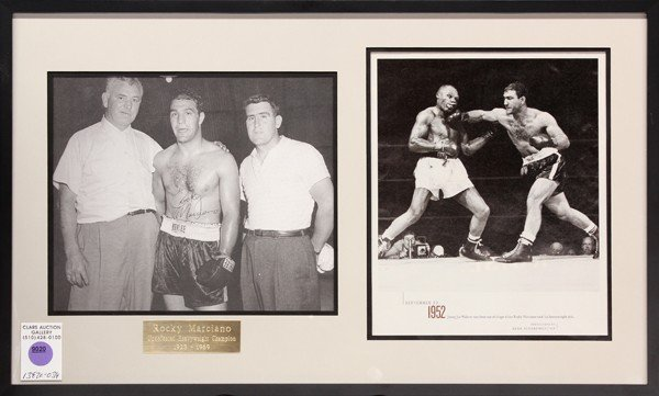 9020: Rocky Marciano autographed photograph