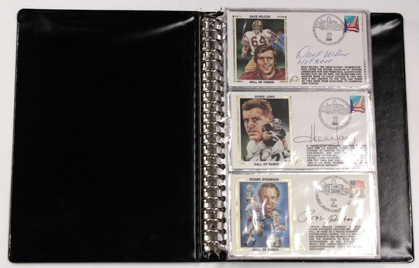 9021: Autographed baseball & football first day covers