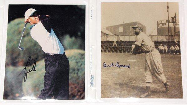 9022: Autographed Sports photographs