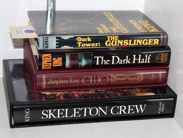 9044: Autographed Stephen King books