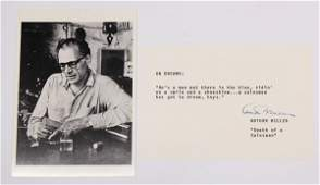 9086 Arthur Miller autograph Death of a Salesman