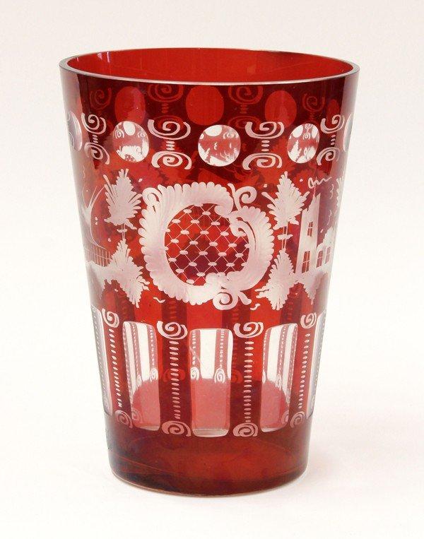 2001: Bohemian style cut glass vase