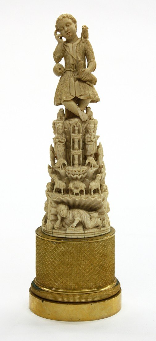 2002: Continental carved ivory sculpture