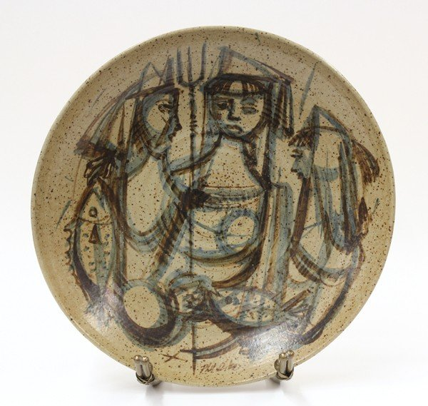 2003: Phil Dike art pottery charger