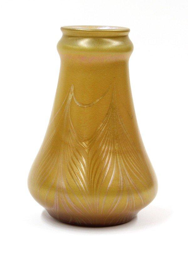 2013: American art glass vase