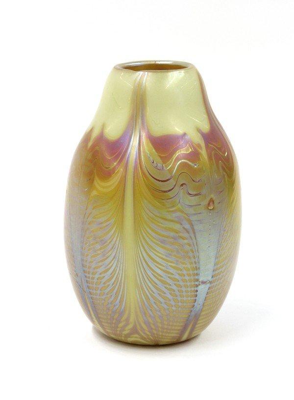 2014: American art glass vase