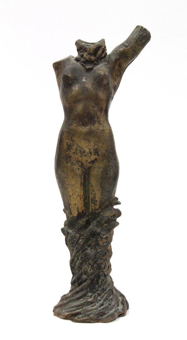2017: Patinated bronze figural sculpture