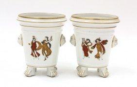 French Porcelain Urns