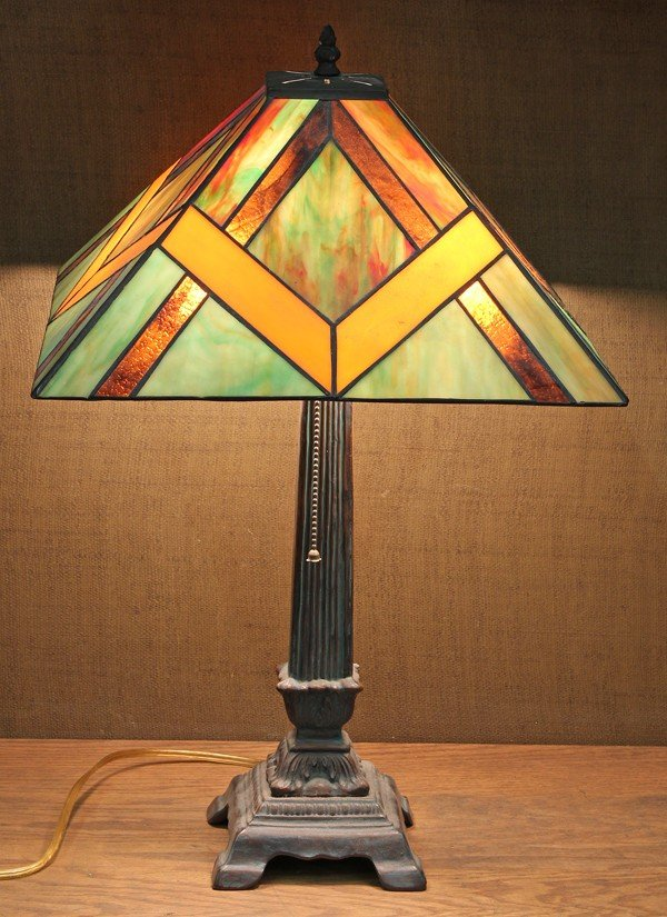 2023: Prarie Style leaded glass lamp