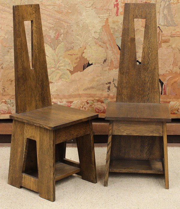 2057: Limbert style hall chairs
