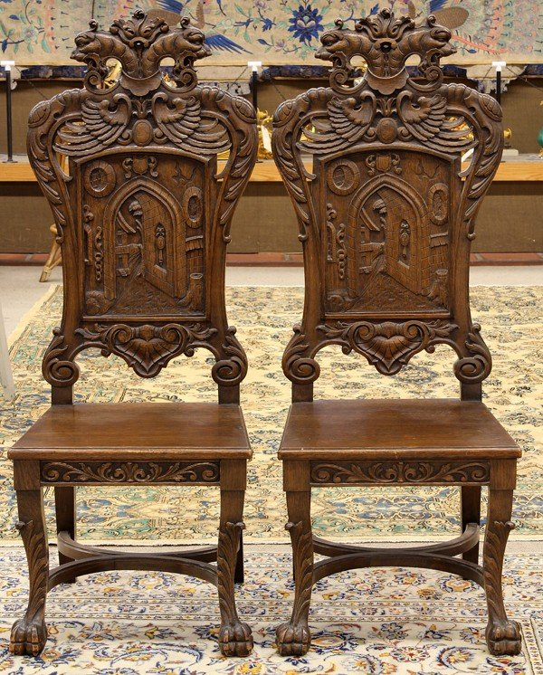 2065: Continental style hall chairs