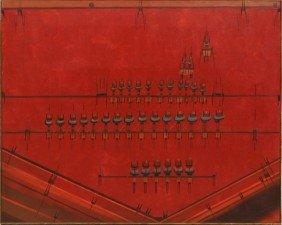 Painting, Lee Mullican, Dance Of The Elders