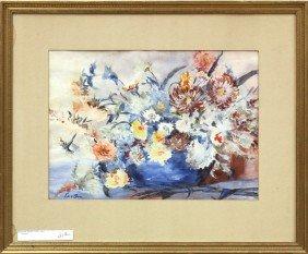 Painting, Jacob Epstein, Chrysanthemum