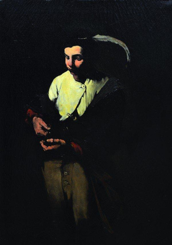 2114: Painting, Theodule Ribot, Portrait