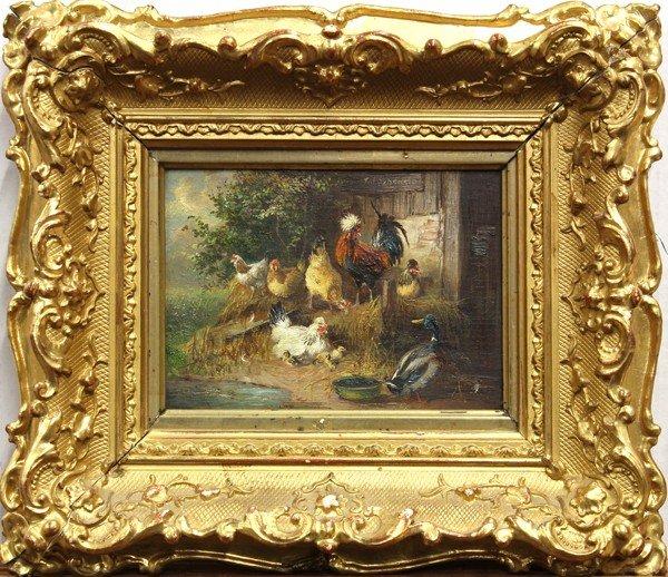 2120: Pair of paintings, Julius Scheurer