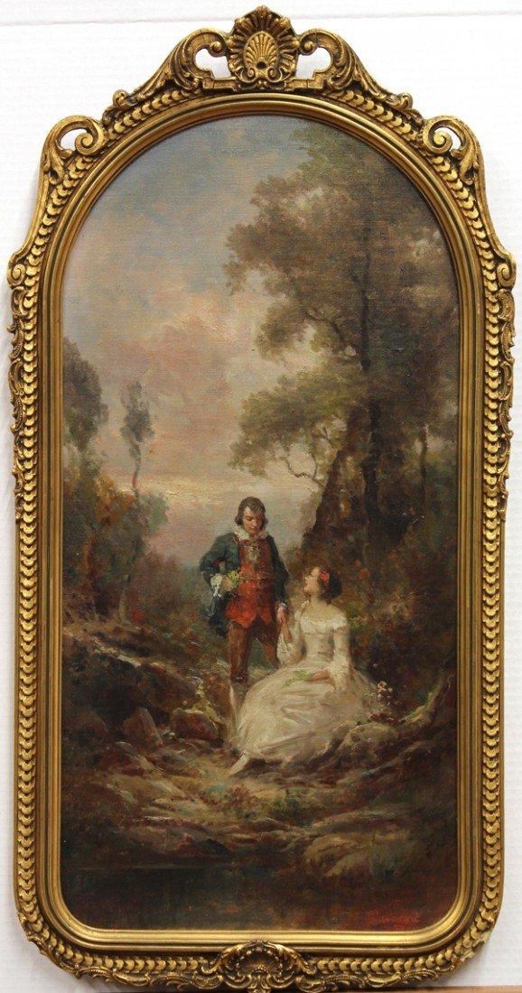 2124: Painting, follower of Watteau