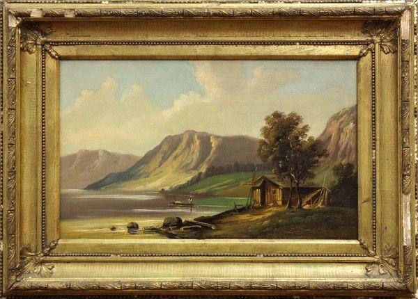 Pair of Hudson River School paintings