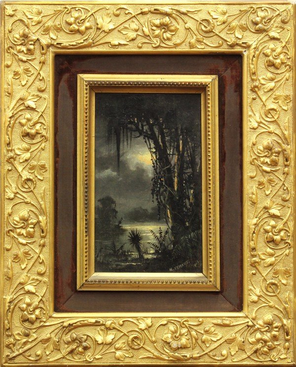 2131: Painting, Meyer Straus, Moonlight on the Bayou
