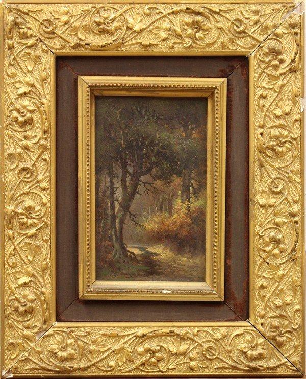 2132: Painting, Meyer Strauss, Stream Through the Woods