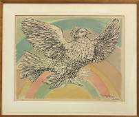 2165: Lithograph, Pablo Picasso, Le Columbe Volante