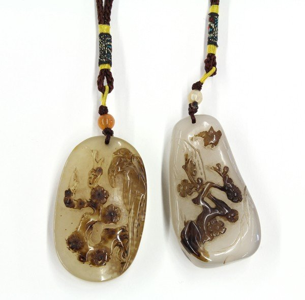19: Two Chinese Agate Pendants