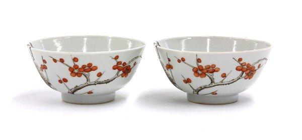 22: Chinese Porcelain Bowls, Prunus