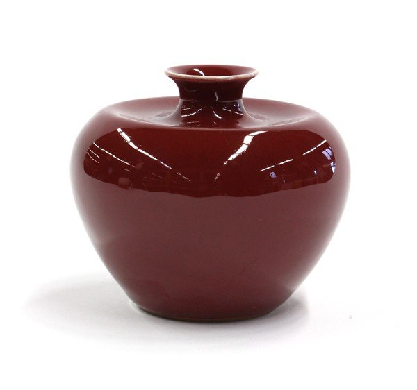 23: Chinese Red Apple-form Brush Washer - 2