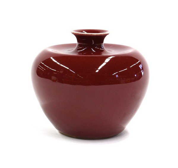 23: Chinese Red Apple-form Brush Washer - 3