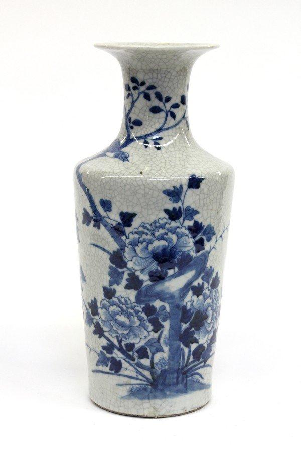 52: Chinese Blue-and-White Porcelain Vase