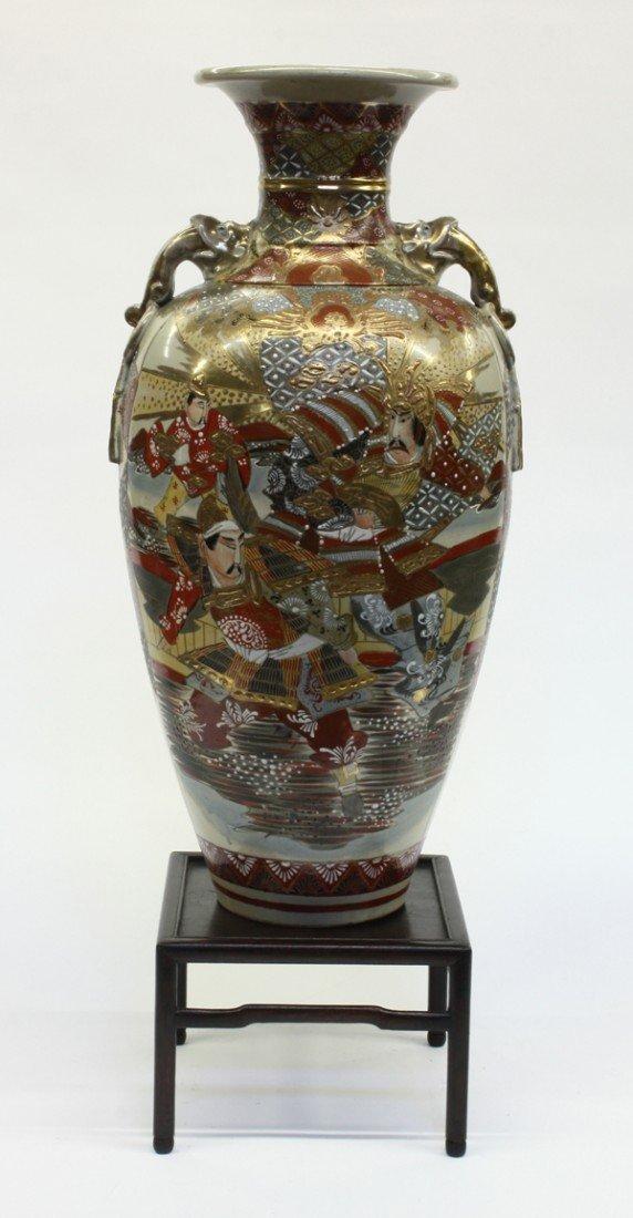 96: Large Satsuma-style Baluster Vase, Taisho/Showa