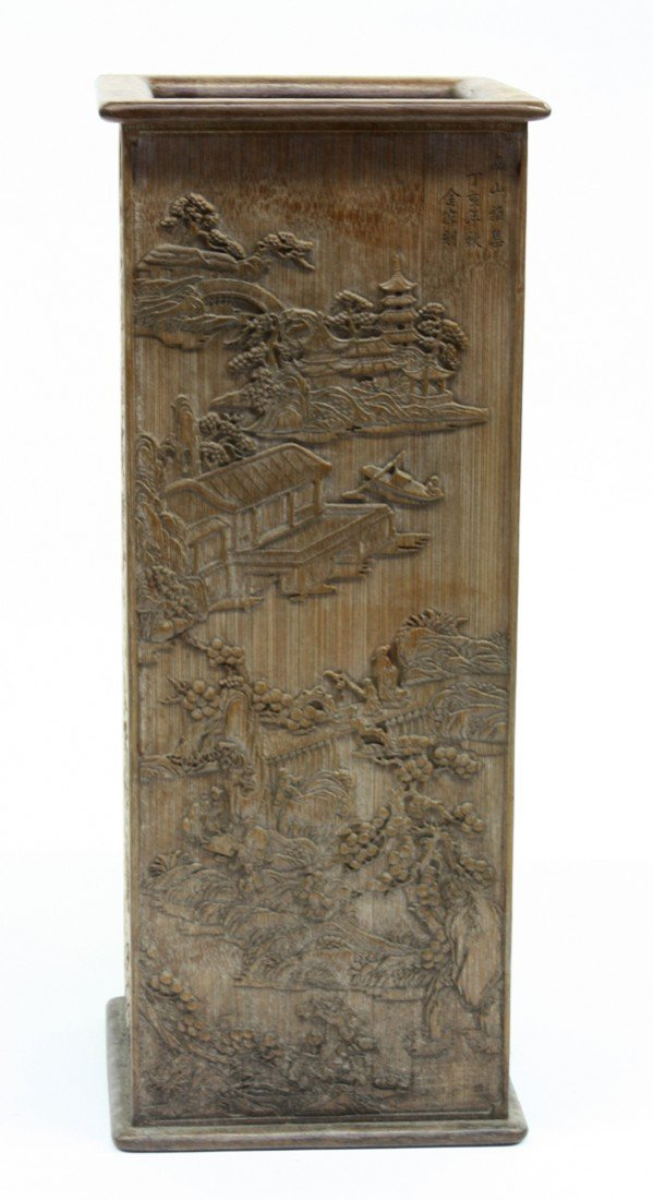 98: Chinese Bamboo Scroll Holder
