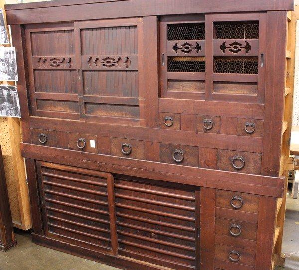 101: Japanese Large Wood Mizuya (Kitchen Cabinet)