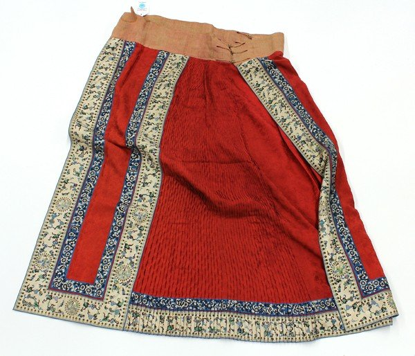 111: Chinese Woman's Red Skirt