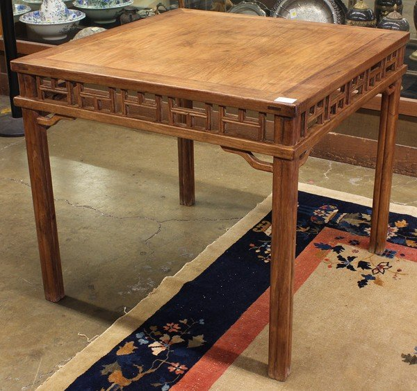 113: Chinese Square Wood Table
