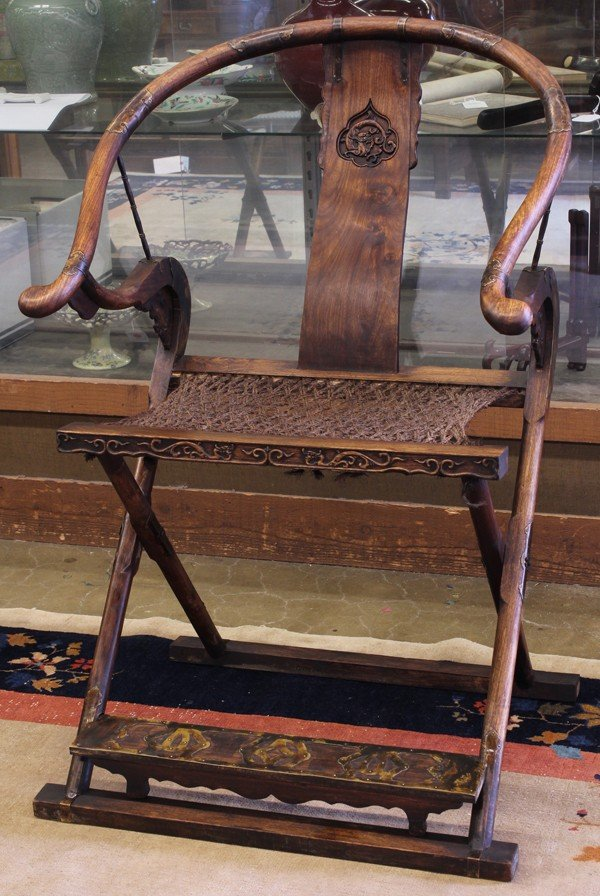 115: Chinese Mixed Wood Folding Chair