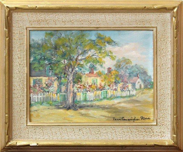 496: Painting, Fern Cunningham Stone, Gardened Homes